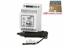 1xTemp controller and 20xBeehive electric heater 12V 10W, heating hive. Full set