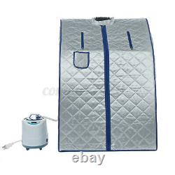 2L Steam Sauna Spa Sauna Tent Full Body Loss Weight Detox Therapy Home Xmas Gift