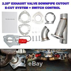 2.25 Electric Exhaust Catback Downpipe Cutout E-CUT Out Valve Motor Full Kit