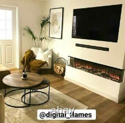 50 60 72 Inch Stunning Panoramic Electric Fire 3 Sided Full Glass New 2021