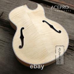 ACEPRO Full Hollow Body Single Cut Flame Maple top F Holes DIY Electric Guitar