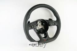Audi Rs-line A4 A5 S4 S5 Flat Bottom Full Performated Steering Wheel #25b