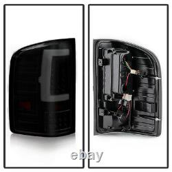 Black Smoke For 07-13 Chevy Silverado Full LED Sequential Neon Tube Tail Light