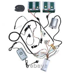 Brushless 48v 1800w Electric Full Motor Kit Controller 3 Speed Go Kart Cart ATV