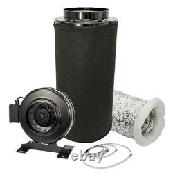 Carbon Filter Inline Fan Kit Duct Hydroponic Ventilation Extractor 8 Grow Room