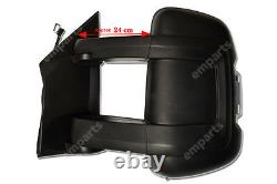 Citroen Relay Full Door Wing Mirror ELECTRIC HEATED 2 Cable Long Arm O/S 2006 On