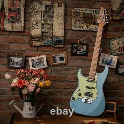 EART 6 String Solid Body Full Size Electric Guitar Mahogany Body, Left Hand