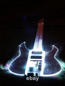 EQUESTER full acrylic electric guitar EGR concept Merlin pickups + piezo