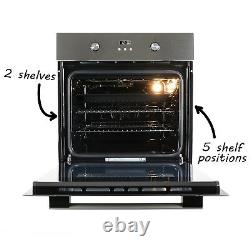 ElectriQ 65 litre 9 Function Full Fan Electric Single Oven Stainless Steel Sup