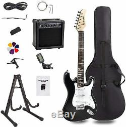 Electric Guitar Superkit Beginners Full Size Amp Tuner Strap Case Cable Learning