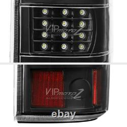 FULL LED Black Tail Lights Lamps Pair For 03-06 Chevy Silverado 1500 2500 3500