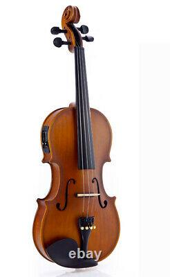 Fever Acoustic Electric Violin, Full Size 4/4, Case, Bow