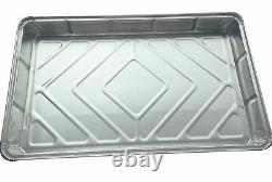 Foil Baking Trays Large Tray Bake Containers Aluminium Disposable 12 x 8 Grill