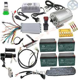 Full Kit Brushless 48v 1800w Electric Motor Speed Controller Golf Cart Tricycle