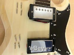 Full Size Right-Handed Double Cutaway Electric guitar DIY KIT E-240DIY, No-Solder