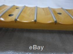 Full scalloped Guitar Neck Electric Guitar Replacement 24 Fret Maple Unfinished