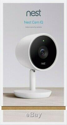 Google Nest Cam IQ Indoor Full HD Wi-Fi Home Security Camera White FREE SHIPPING