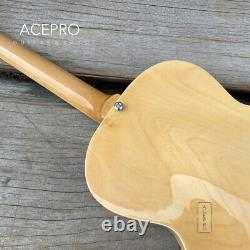Grote Full Hollow Body Electric Guitar F holes Natural color Maple body