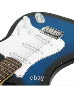 Guitar Kit Full Size Blue Electric Guitar with Amp