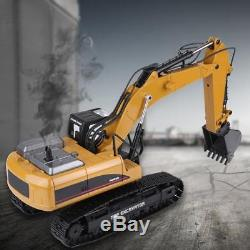 HUINA 1580 114 3 in 1 RC Electric Full Metal Excavator RC Engineering Vehicle