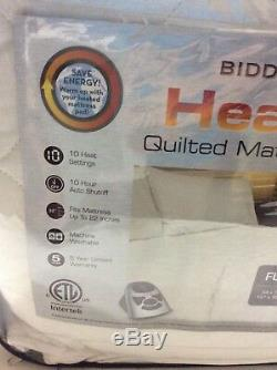 Heated Mattress 10 Heat Settings Full Size Heated Bedding Cover Soft Bed Pad NEW