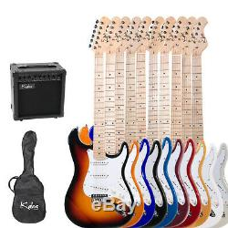 Kalos 39 Full Size Electric Guitar Pack with 15w amp 8 Colors +Lesson Book