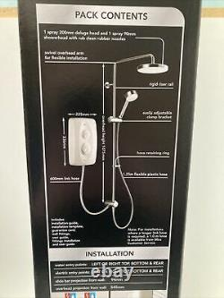 Mira Jump Dual Multi-fit Electric Shower 9.5kW White/Chrome 1.1788.578