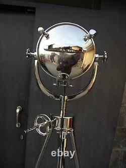 Model Authentic Spotlight With Chrome Tripod Stand Chrome Searchlight Full Steel