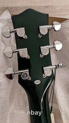 NEW Firefly Spalted Maple Full Size Semi Hollow body Electric Guitar(GreenColor)