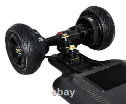 NEW Full Carbon Electric Skateboard 4 speed remote Dual Motor 25 miles range