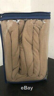NEW! Serta MicroFleece Electric Heated Blanket Full Beige With Digital Controller