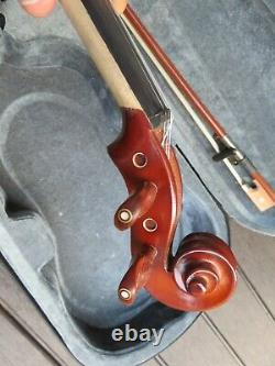 New Full Size Acoustic/electric 4/4 Flamed Concert Violin/fiddle-german