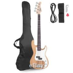 New Glarry Burning Fire Burlywood Full Size 4 String Electric Bass Guitar Bag