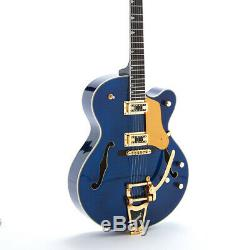 New L5 Electric Guitar Full Hollow Body Flamed Maple Top Jazz Bigsby Bridge