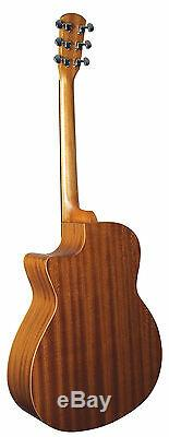 New Morgan Monroe Mg-505ne Acoustic-electric Full Size Guitar With Free Gig Bag
