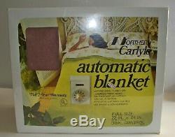 New Northern Carlyle Electric Fleece Blanket Full Size Dual Control, Mocha Brown