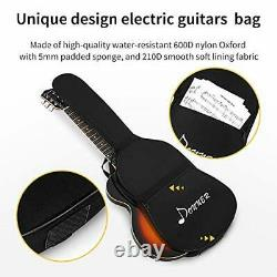 New Solid Full Size 39 Beginner Electric Guitar Picks Shake Cable Tool Black