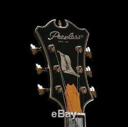 Peerless Monarch Full Hollow Body Archtop Jazz Electric Guitar Sunburst 17 OHSC