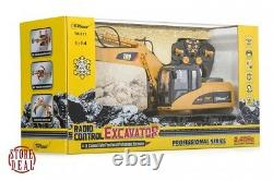 RC Excavator Tractor Toy Remote Control Truck Metal Digger Vehicle Full Function