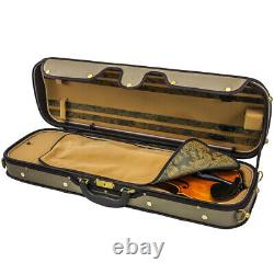 SKY Acoustic Electric Violin Luxury Full Size Oblong Case Solid Wood 4/4