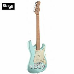Stagg 39 Full Size SES50M ST Style Standard Electric Guitar Brand New Blue