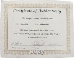 Stan Lee Signed Peavey Marve Deadpool Full Size Electric Guitar & Certificate