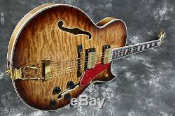Starshine Full Hollow body Byrdland Electric Guitar 5A Quilted Maple Top