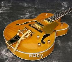 Starshine Top Quality Full Hollow Body Style Electric Guitar Gloss Honey Color