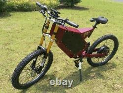 Stealth Bomber Electric Mountain EBike 48v 3000w Full Suspension Bicycle