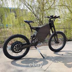 Stealth Bomber electric Mountain EBike 48v 3000W full suspension motorcycle seat