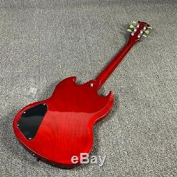 Top Quality Electric Guitar SG Style Red Colors Full Pickguard TOM Bridge