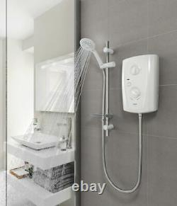 Triton T80 Pro-Fit Electric Shower 8.5Kw White Bathroom Modern Head Easy Install