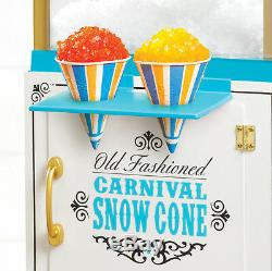 Vintage Series 48 Snow Cone Machine Cart, Electric Full-Size Shaver Ice Crusher