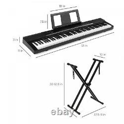 Weighted Keys Sustain Pedal Full Size Electric 88 Key Digital Piano Set Keyboard